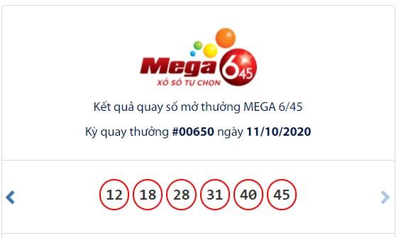 Kết quả Vietlott Mega 6/45 ngày 11/10: Jackpot gần 20,5 tỉ đồng chờ đợi chủ trong kì quay tiếp theo - Ảnh 1.