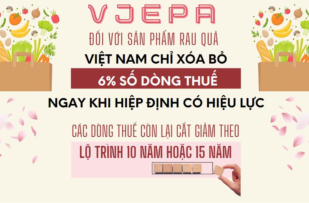 VJEPA: Cam kết về thuế quan với mặt hàng rau quả - Ảnh 1.