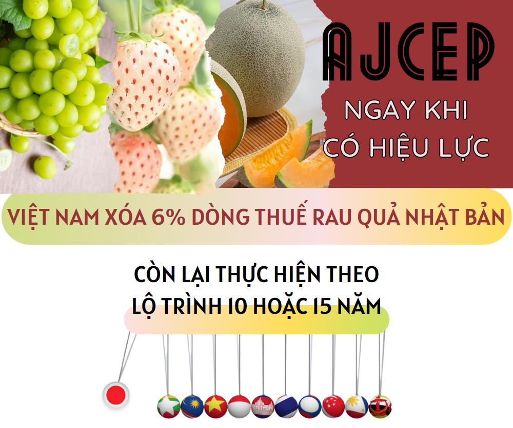 AJCEP: Cam kết về thuế quan với mặt hàng rau quả - Ảnh 1.