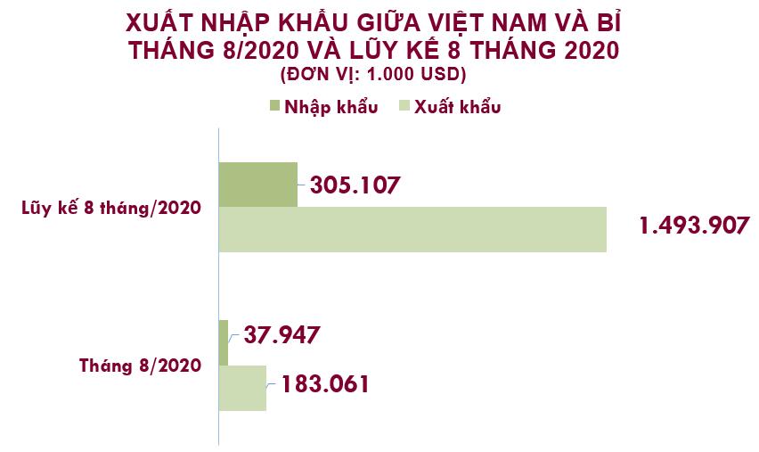 Xuất nhập khẩu Việt Nam và Bỉ tháng 8/2020: Xuất khẩu giày dép các loại giảm 11% - Ảnh 2.