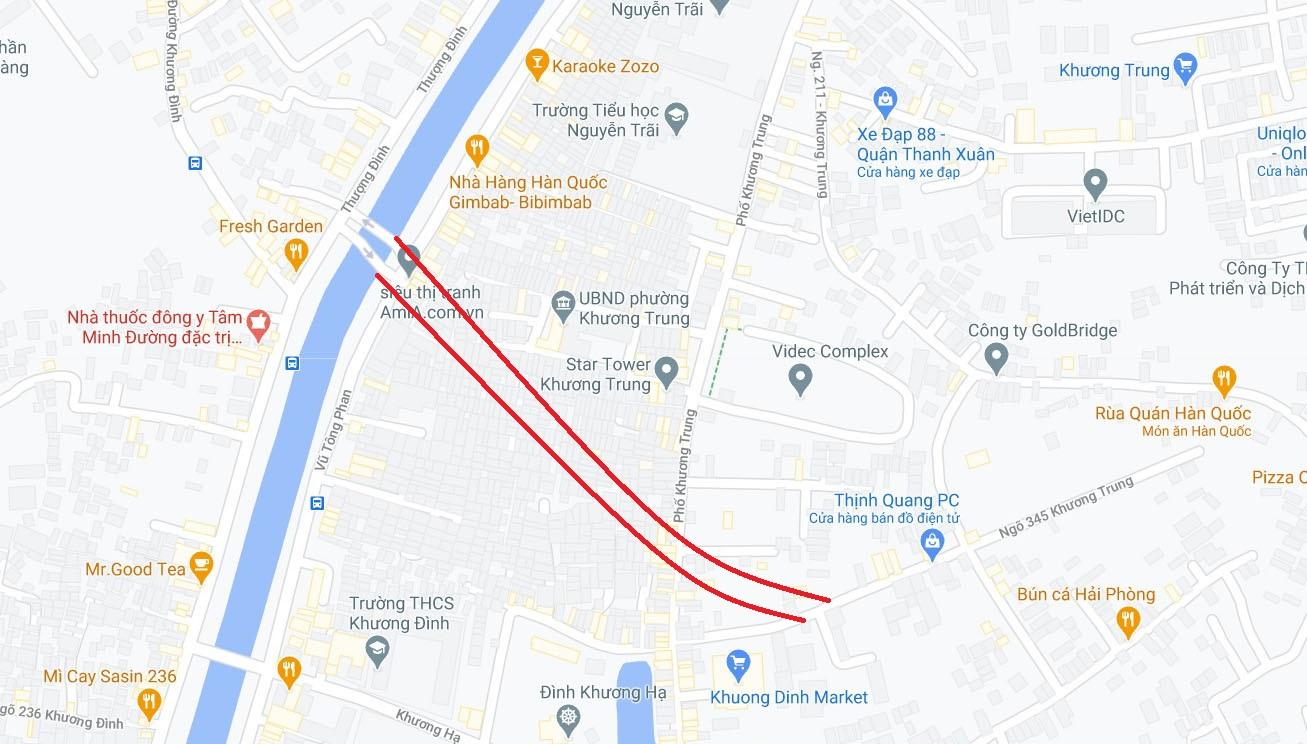 Ba đường sẽ mở theo qui hoạch ở phường Khương Trung, Thanh Xuân, Hà Nội - Ảnh 2.