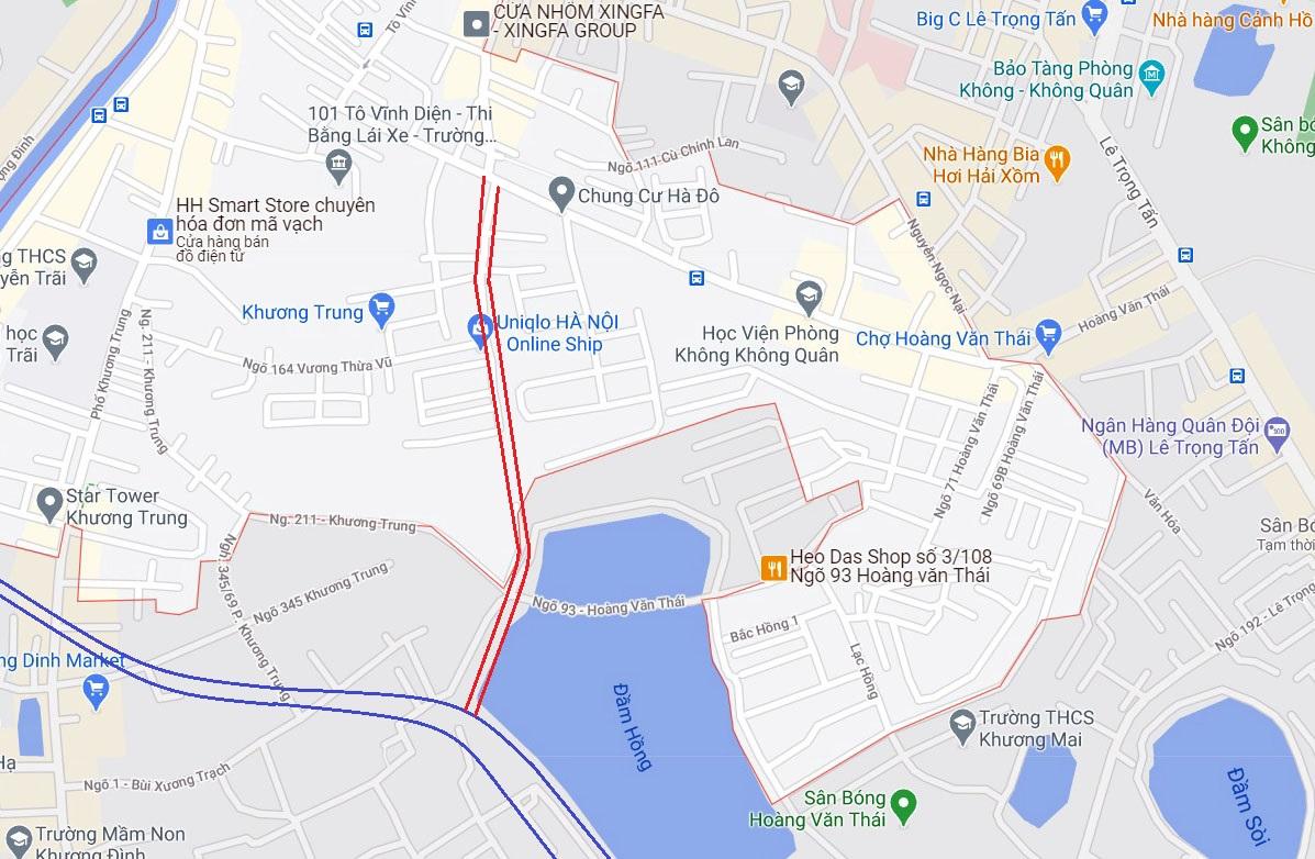 Ba đường sẽ mở theo qui hoạch ở phường Khương Trung, Thanh Xuân, Hà Nội - Ảnh 9.