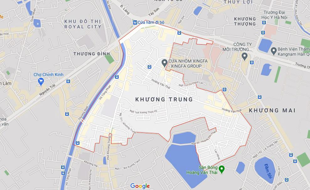 Ba đường sẽ mở theo qui hoạch ở phường Khương Trung, Thanh Xuân, Hà Nội - Ảnh 1.