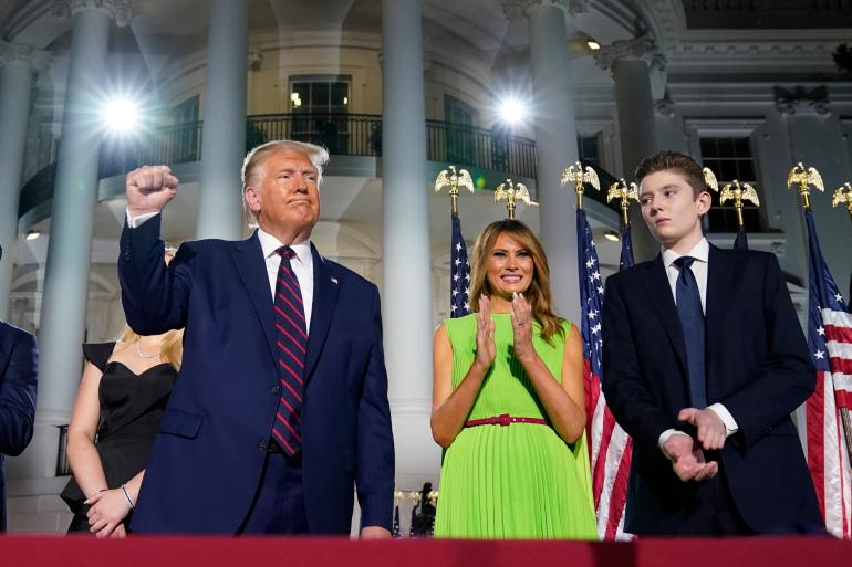 Con trai út của ông Trump từng xét nghiệm dương tính với COVID-19 - Ảnh 1.