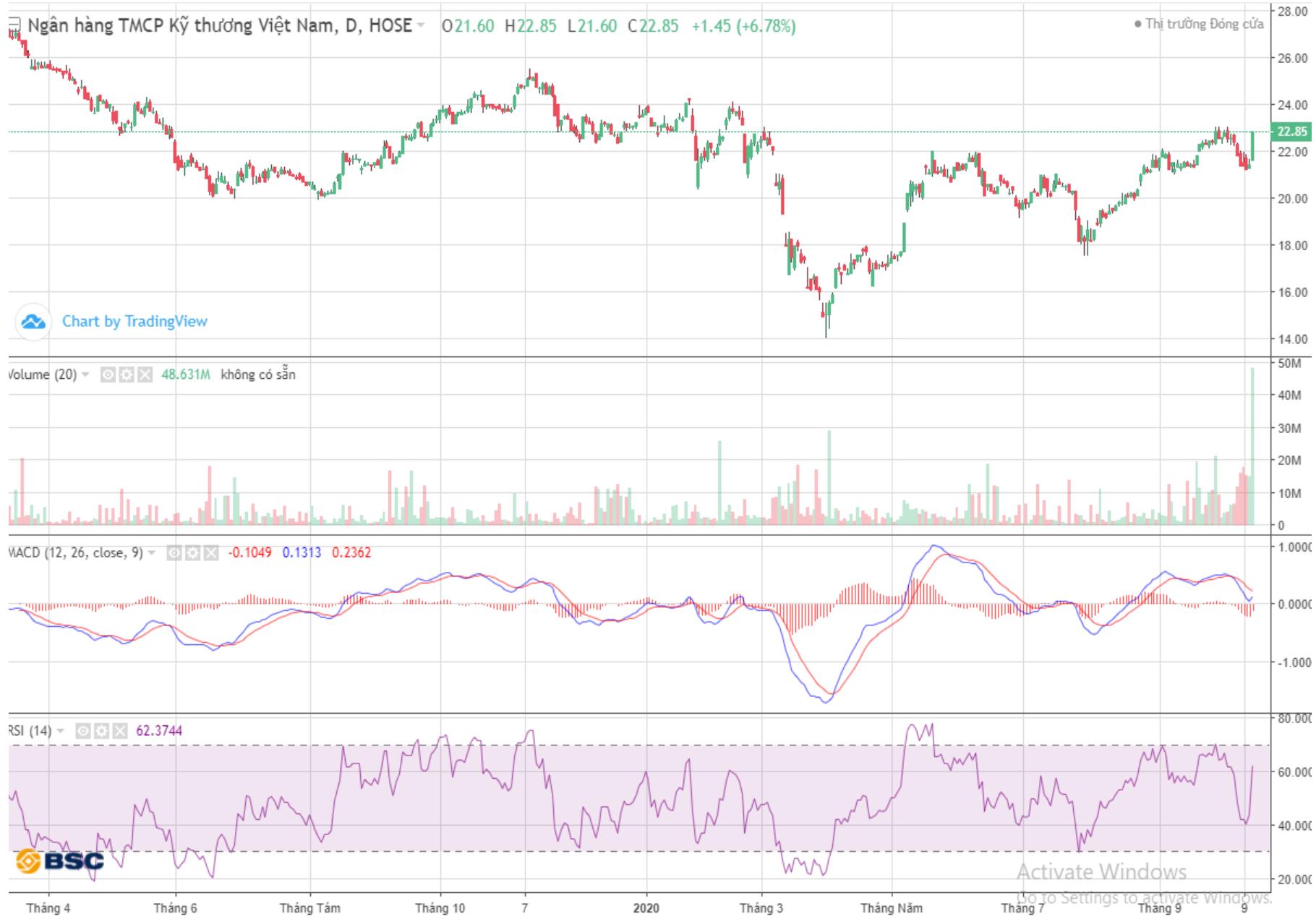 Cổ phiếu tâm điểm ngày 15/10: TCB, SBT, GDT - Ảnh 2.