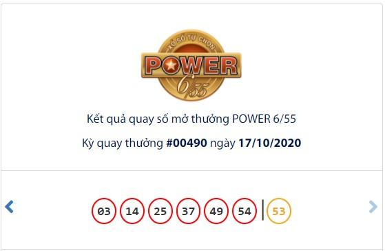 Kết quả Vietlott Power 6/55 ngày 17/10: Cả 2 giải thưởng lớn đều hụt chủ nhân - Ảnh 1.