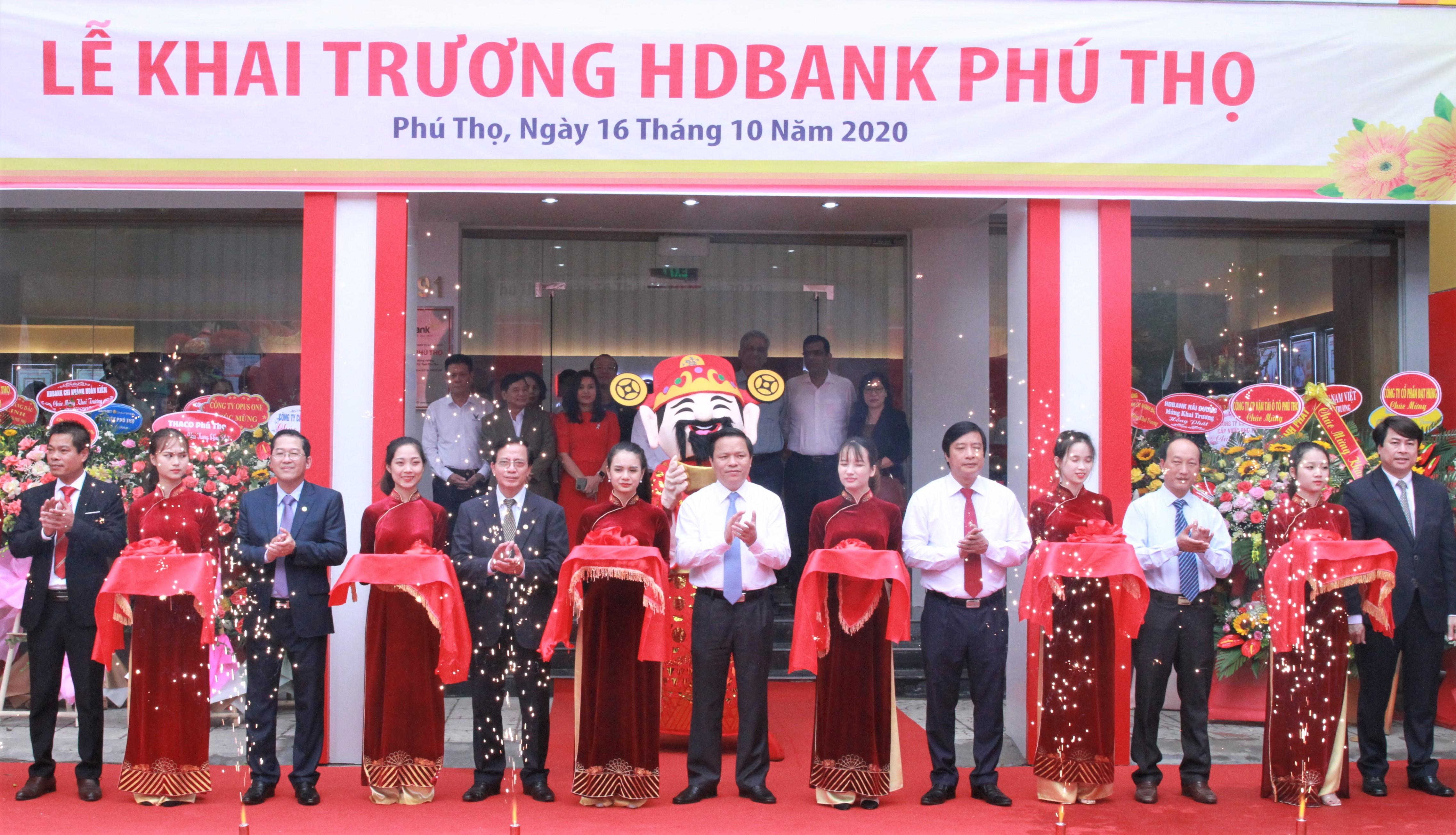 HDBank khai trương và đi vào hoạt động tại Phú Thọ - Ảnh 1.