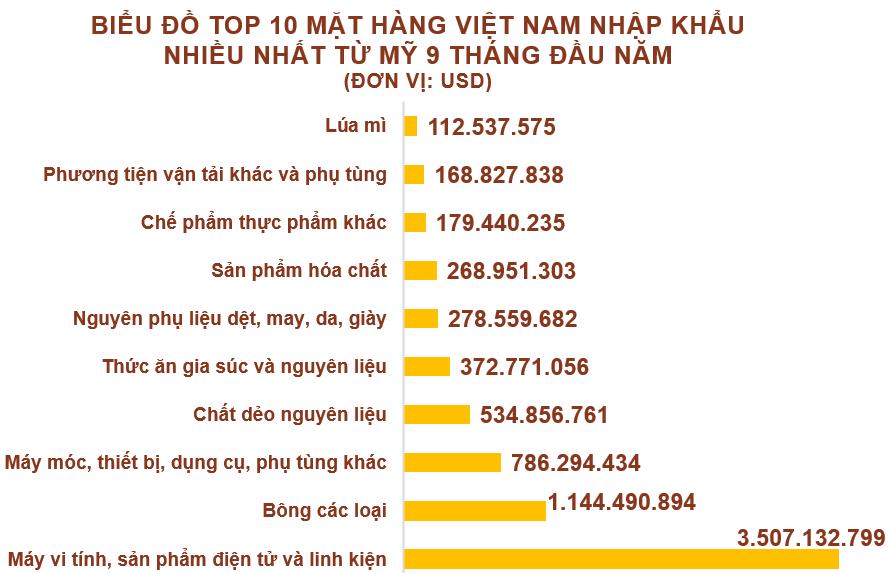 Xuất nhập khẩu Việt Nam và Mỹ tháng 9/2020: Xuất siêu 6,6 tỉ USD - Ảnh 5.