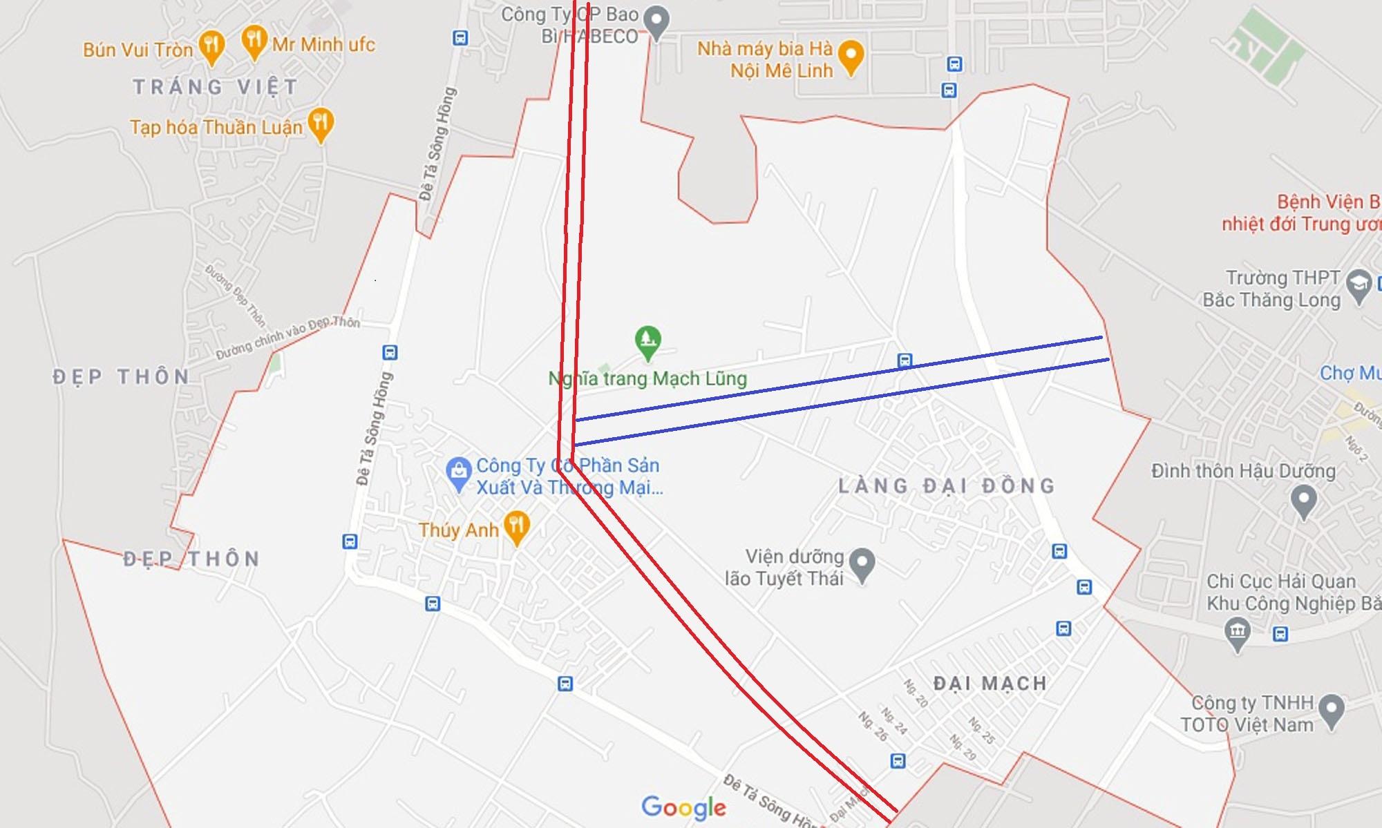 4 đường sẽ mở theo qui hoạch ở xã Đại Mạch, Đông Anh, Hà Nội - Ảnh 15.