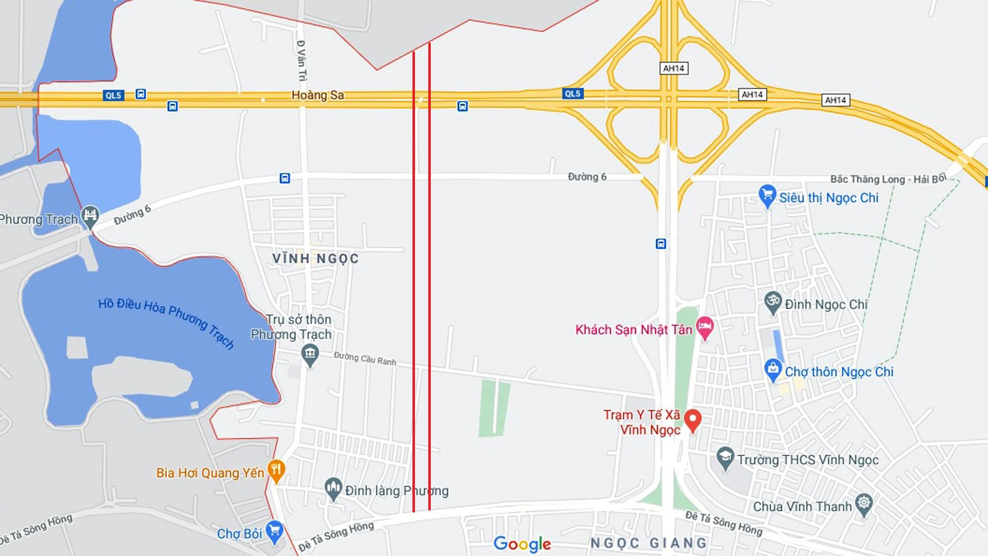 4 đường sẽ mở theo qui hoạch ở xã Vĩnh Ngọc, Đông Anh, Hà Nội - Ảnh 2.