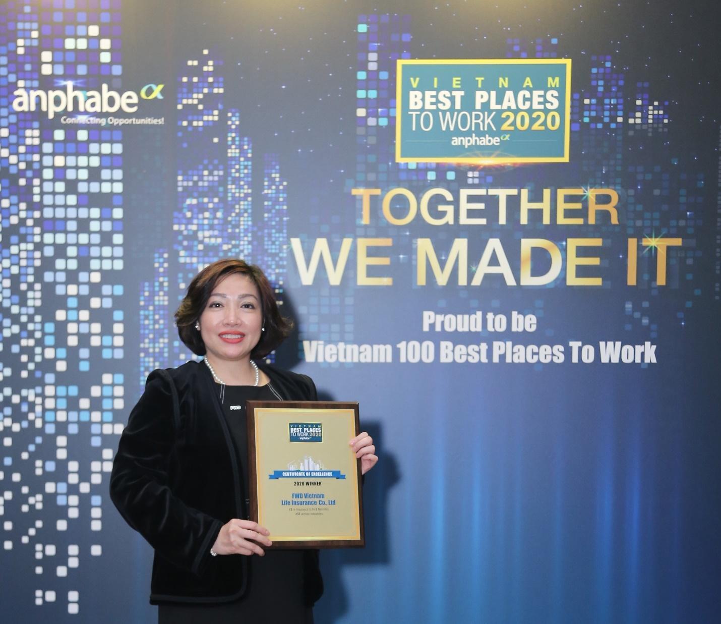FWD được gọi tên trong Top 3 môi trường làm việc tốt nhất ngành bảo hiểm - Ảnh 1.