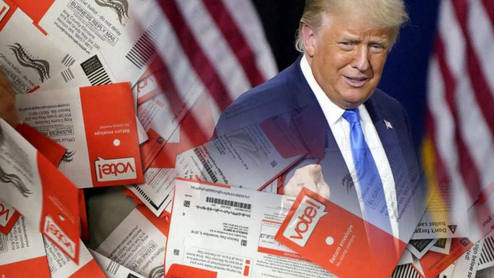 Ông Trump đích thân đi bỏ phiếu sớm - Ảnh 1.