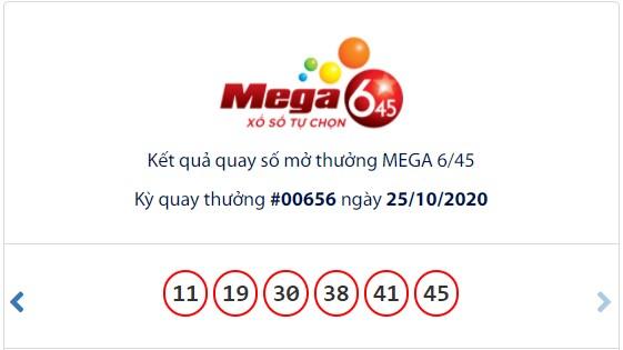 Kết quả Vietlott Mega 6/45 ngày 25/10: Chủ nhân giải Jackpot 15,4 tỉ đồng đã xuất hiện - Ảnh 1.