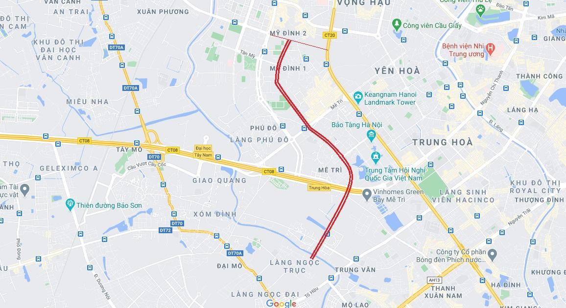 Đường sẽ mở theo qui hoạch ở Hà Nội: Đường nối làng Ngọc Trục với Sân Mỹ Đình - Ảnh 1.