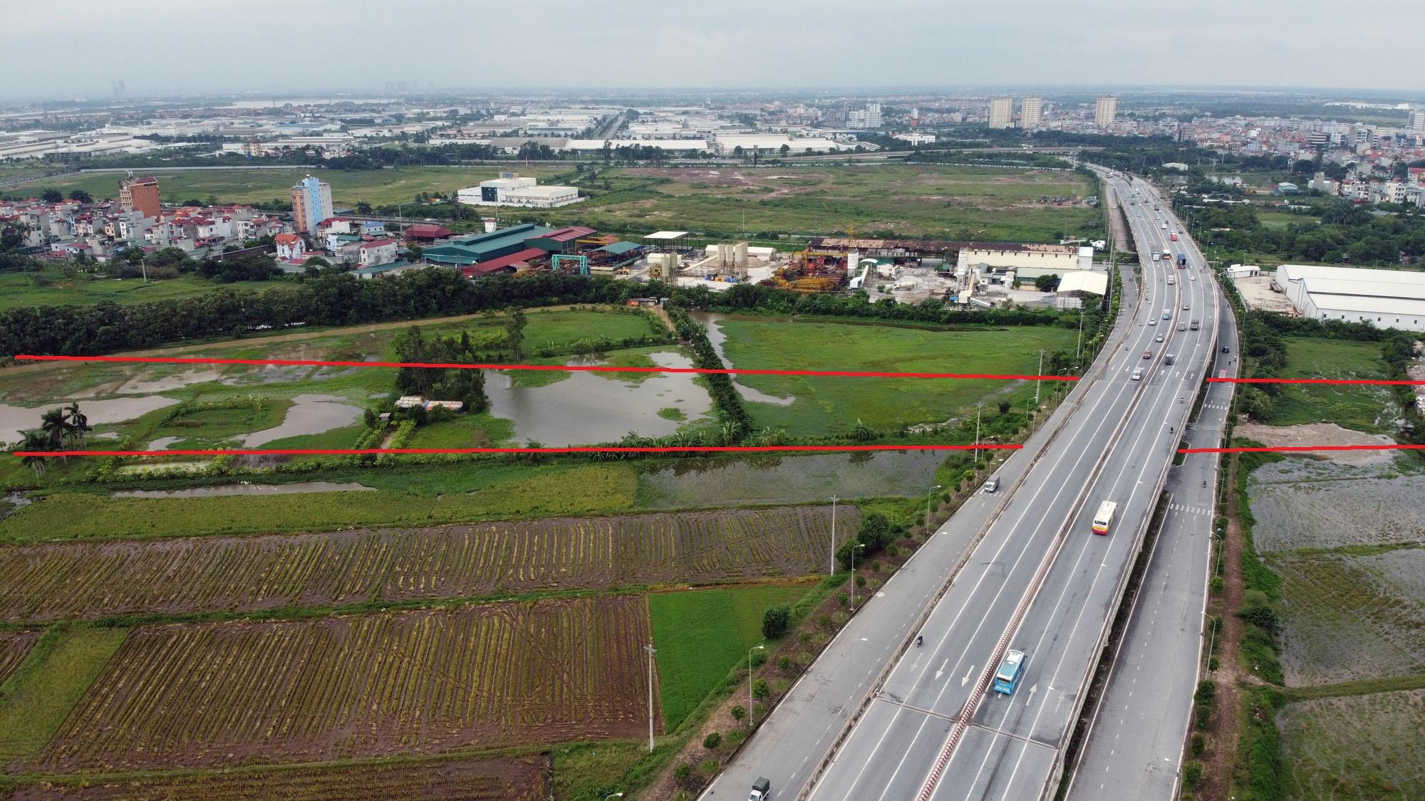 đường sẽ mở theo qui hoạch ở xã Kim Nỗ, Đông Anh, Hà Nội - Ảnh 3.