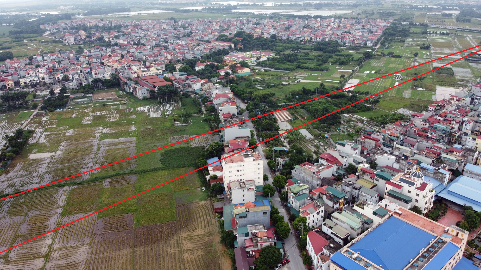 đường sẽ mở theo qui hoạch ở xã Kim Nỗ, Đông Anh, Hà Nội - Ảnh 6.