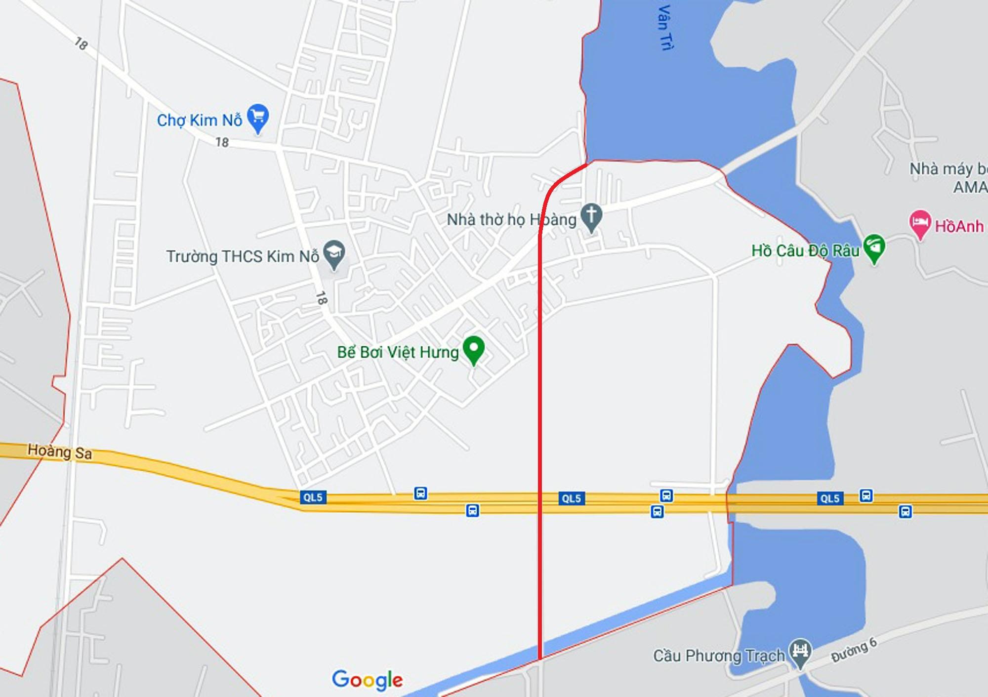 đường sẽ mở theo qui hoạch ở xã Kim Nỗ, Đông Anh, Hà Nội - Ảnh 9.
