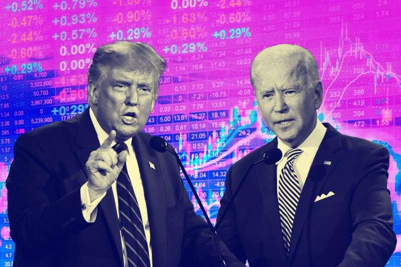Phố Wall vững tâm với ông Biden mặc cho ông Trump ra sức cảnh báo - Ảnh 1.