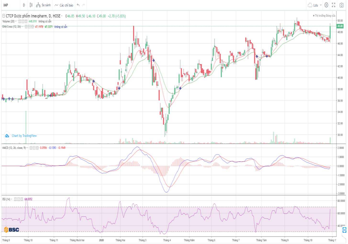 Cổ phiếu tâm điểm ngày 30/10: IMP, GVR, LPB - Ảnh 1.