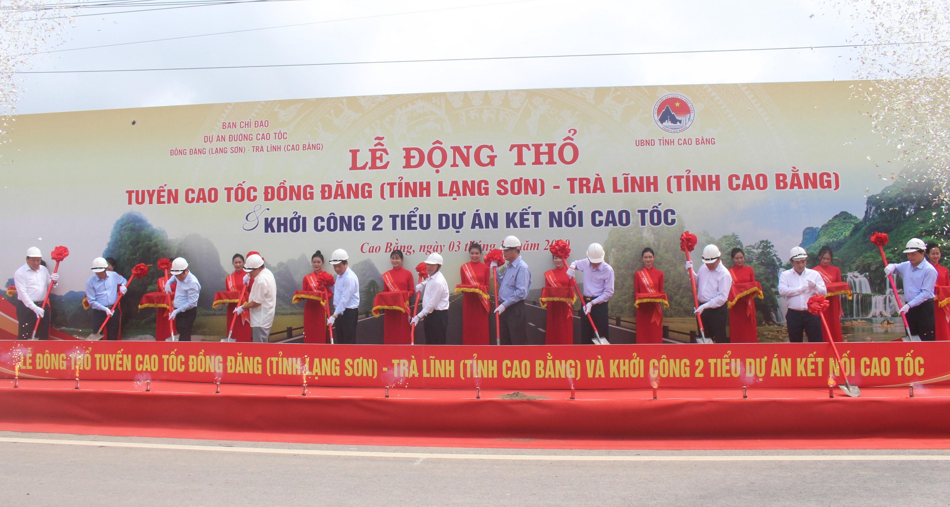 Cao tốc Đồng Đăng - Trà Lĩnh chính thức làm lễ động thổ - Ảnh 1.