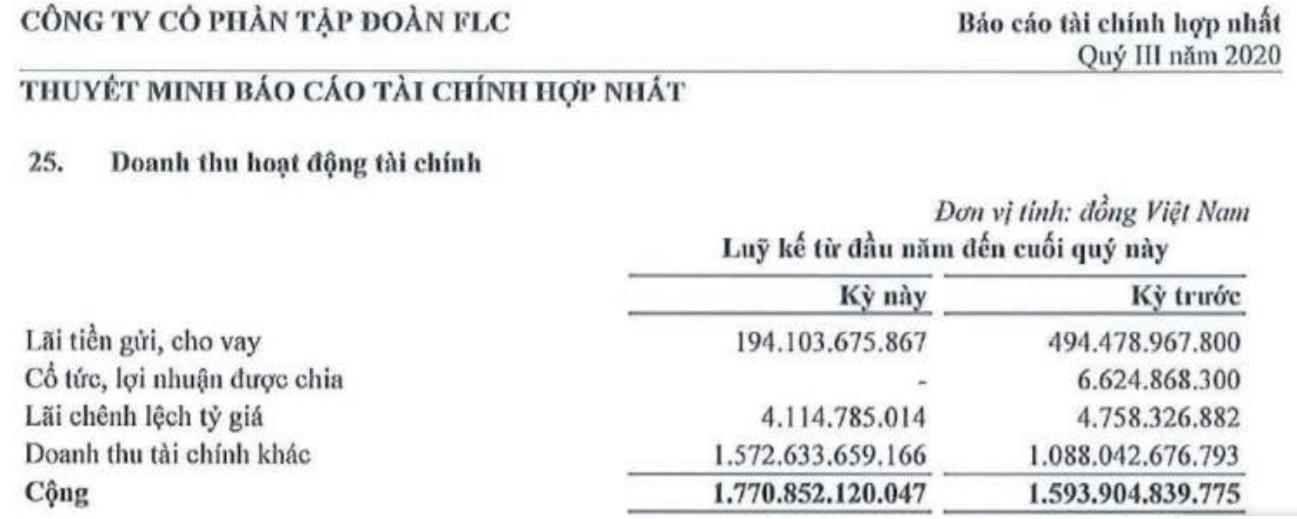 Tập đoàn FLC lãi gấp 9 lần cùng kì nhờ doanh thu tài chính đột biến - Ảnh 2.