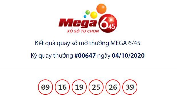 Kết quả Vietlott Mega 6/45 ngày 4/10: Hụt chủ nhân giải jackpot giá trị hơn 16,5 tỉ đồng - Ảnh 1.