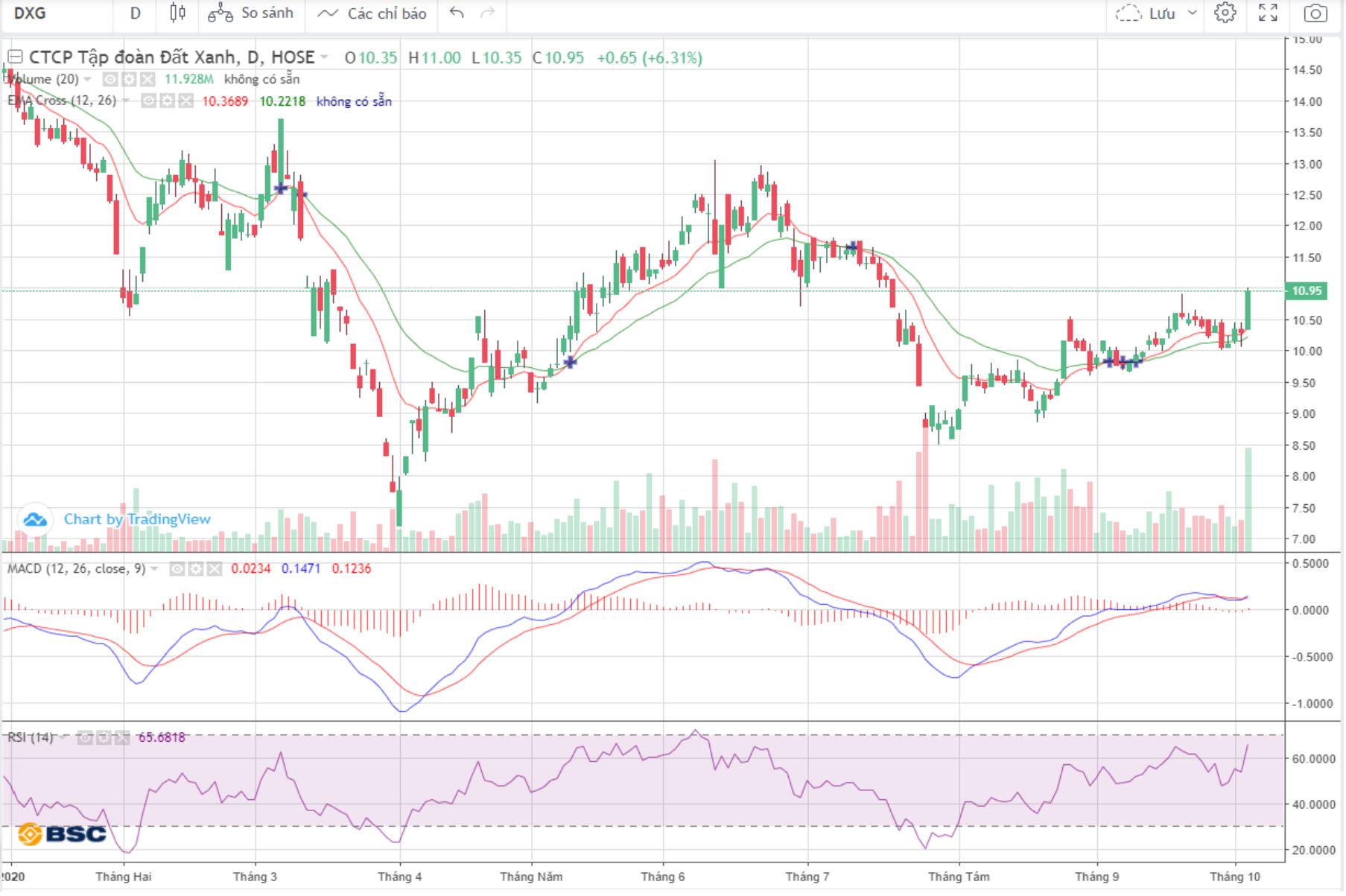 Cổ phiếu tâm điểm ngày 6/10: DXG, PC1, POW, HAH - Ảnh 1.