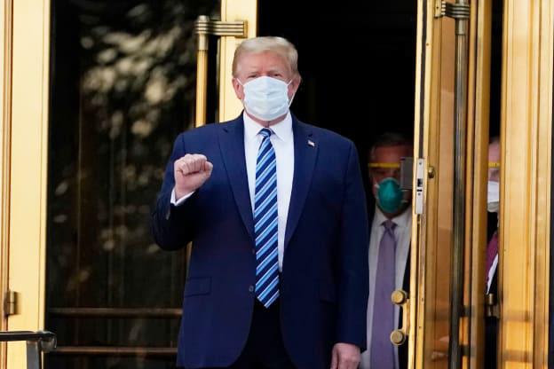 Tổng thống Trump đã xuất viện dù vẫn dương tính, muốn đi tranh cử  trở lại