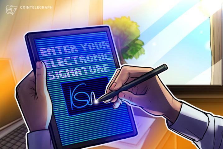 Luật mới được đưa ra công nhận chữ kí trên blockchain (nguồn: CoinTelegraph)