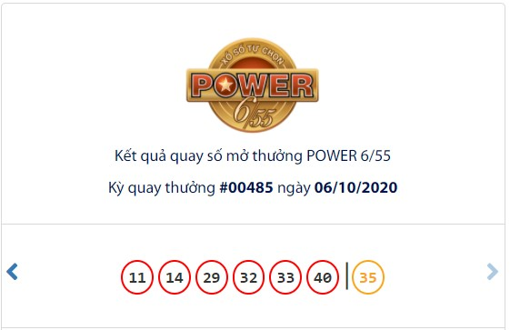 Kết quả Vietlott Power 6/55 ngày 6/10: Cả jackpot 1 và jackpot 2 đều 'bơ vơ' - Ảnh 1.