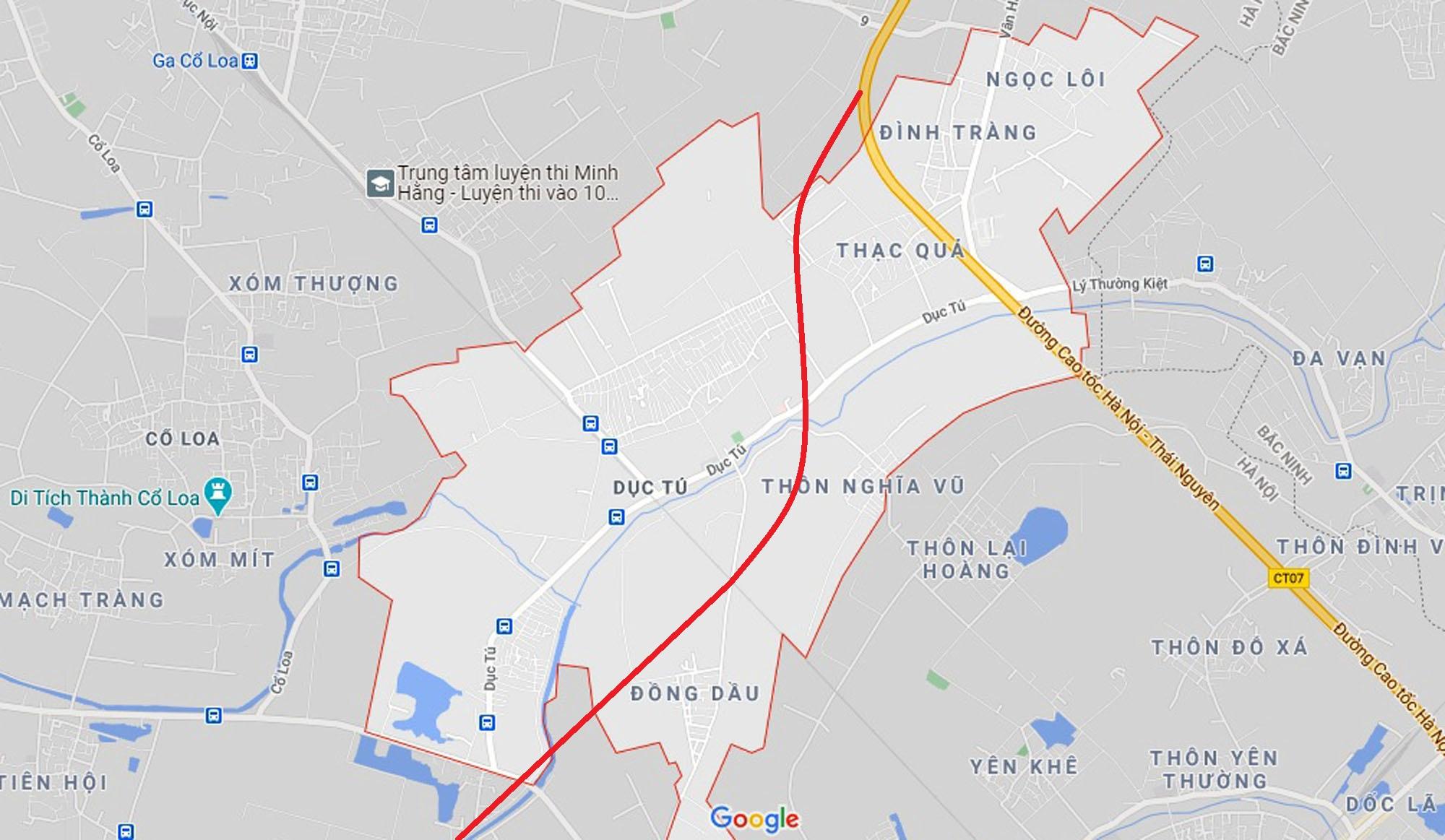 đường sẽ mở theo qui hoạch ở xã Dục Tú, Đông Anh, Hà Nội - Ảnh 2.