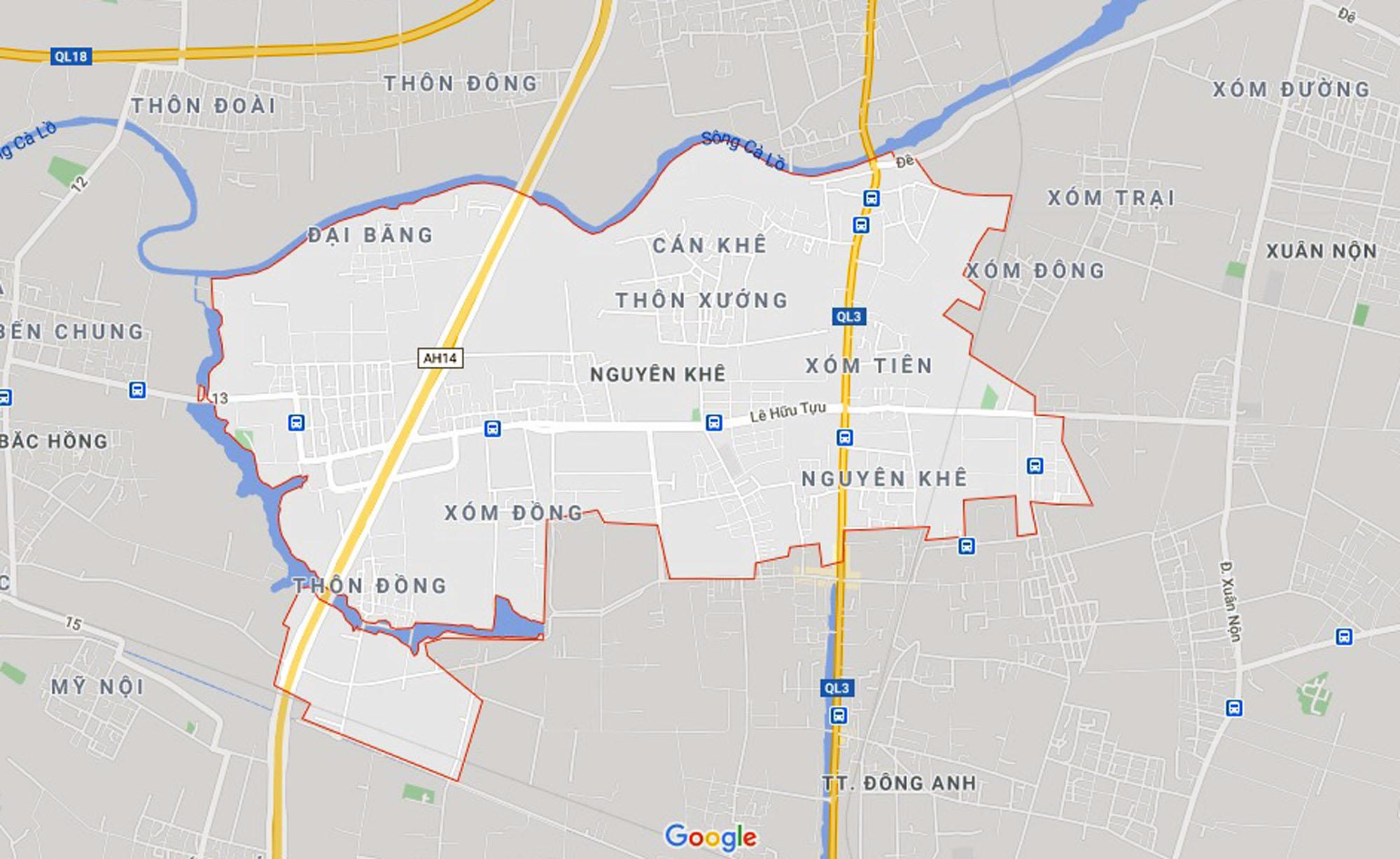 đường sẽ mở theo qui hoạch ở xã Nguyên Khê, Đông Anh, Hà Nội - Ảnh 1.