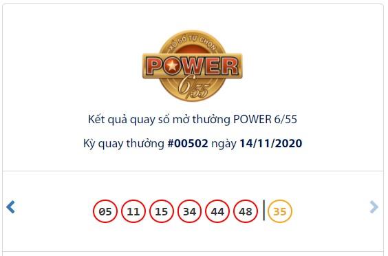 Kết quả Vietlott Power 6/55 ngày 14/11: Cả 2 giải thưởng lớn đều hụt chủ nhân - Ảnh 1.