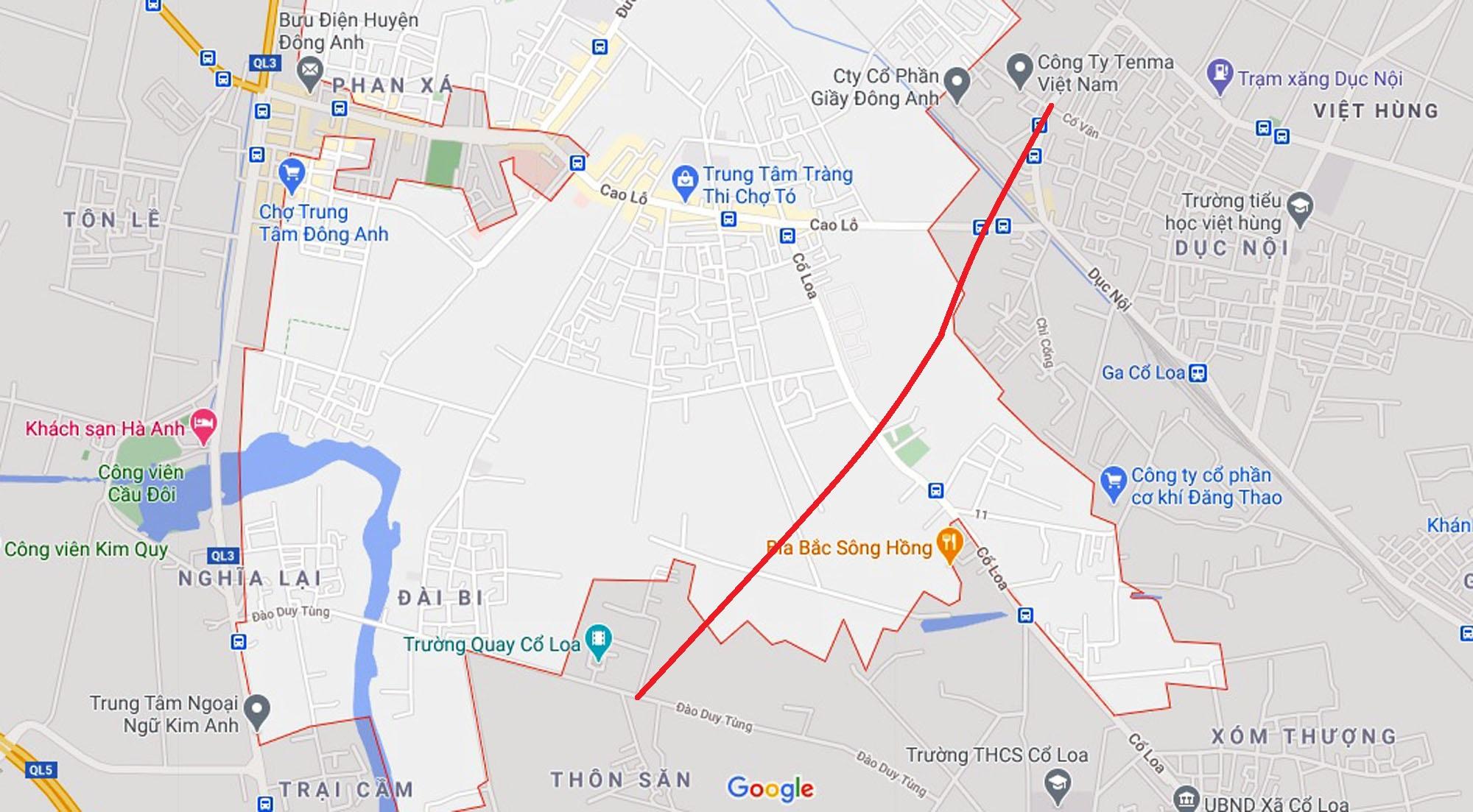 đường sẽ mở theo qui hoạch ở xã Uy Nỗ, Đông Anh, Hà Nội - Ảnh 6.