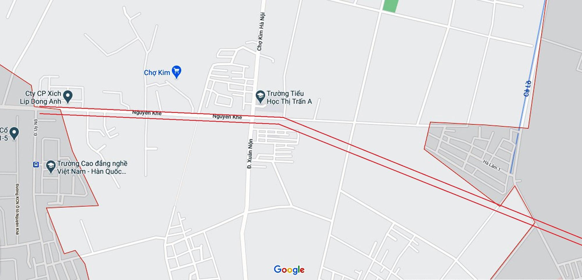 Ba đường sẽ mở theo qui hoạch ở xã Xuân Nộn, Đông Anh, Hà Nội - Ảnh 2.