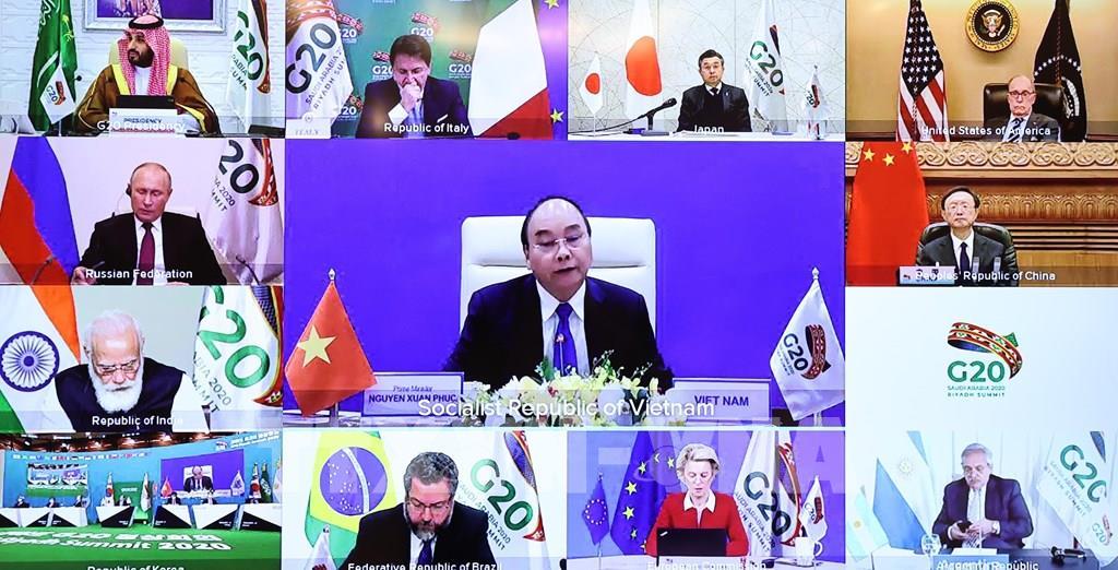 Thủ tướng Nguyễn Xuân Phúc dự Hội nghị thượng đỉnh G20 trực tuyến - Ảnh 1.