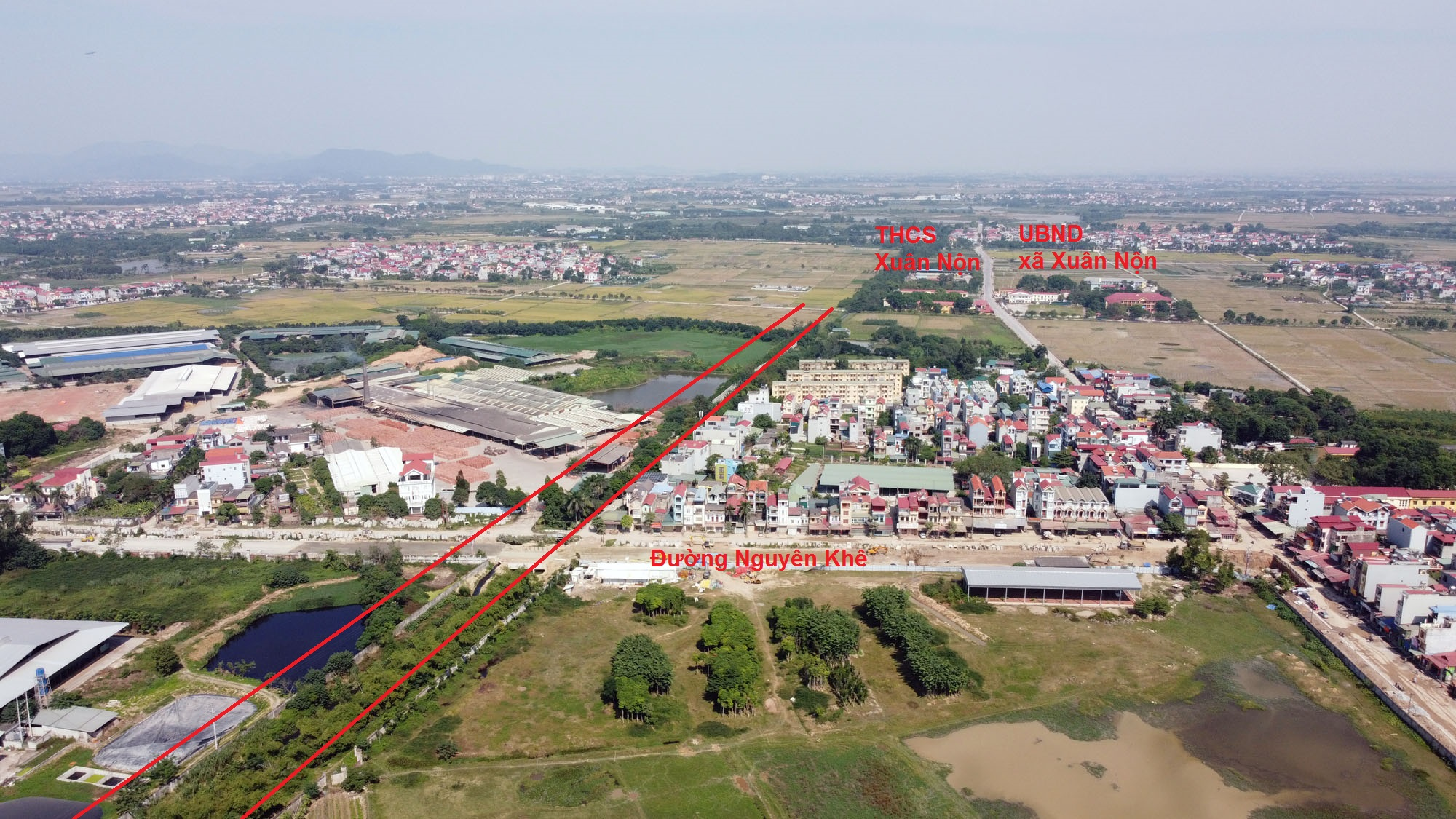 Ba đường sẽ mở theo qui hoạch ở xã Xuân Nộn, Đông Anh, Hà Nội - Ảnh 8.