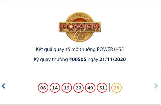 Kết quả Vietlott Power 6/55 ngày 21/11: Jackpot 1 vượt mốc 44,6 tỉ đồng vẫn chưa dừng - Ảnh 1.