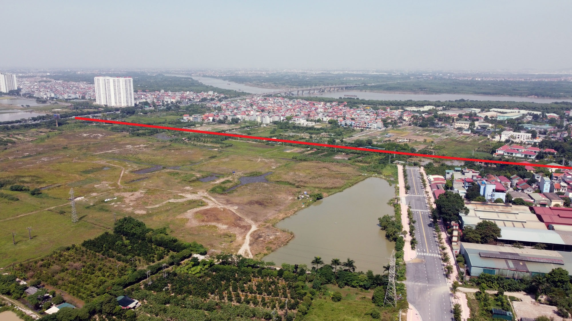 đường sẽ mở theo qui hoạch ở xã Cổ Bi, Gia Lâm, Hà Nội - Ảnh 3.