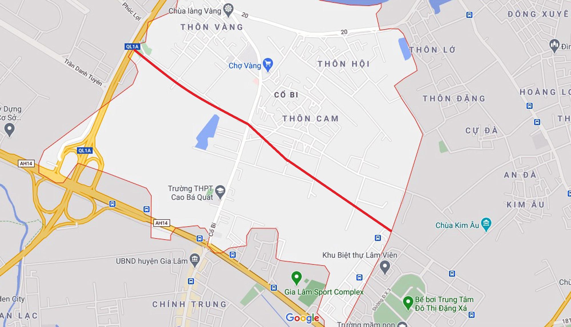đường sẽ mở theo qui hoạch ở xã Cổ Bi, Gia Lâm, Hà Nội - Ảnh 2.