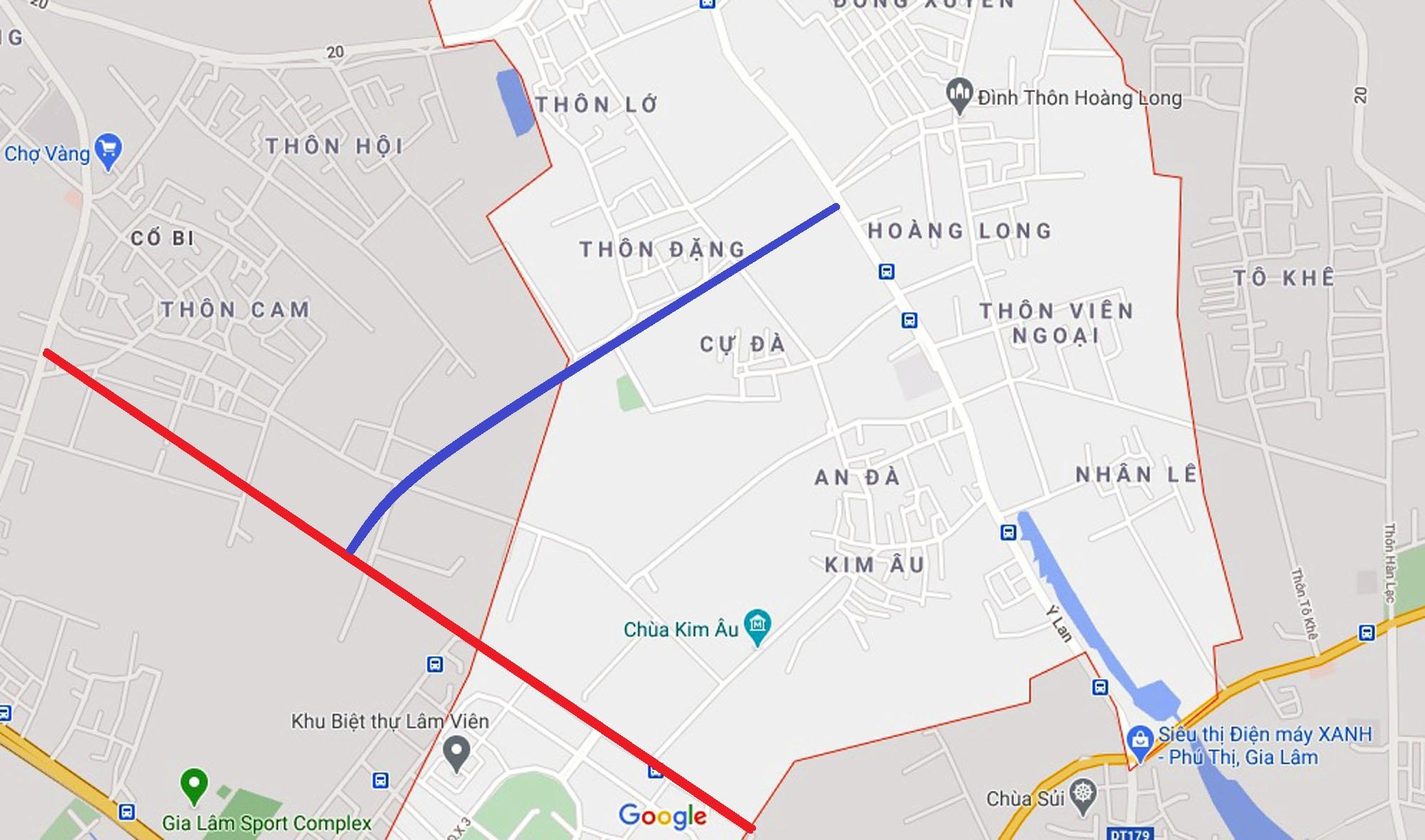 đường sẽ mở theo qui hoạch ở xã Đặng Xá, Gia Lâm, Hà Nội - Ảnh 5.