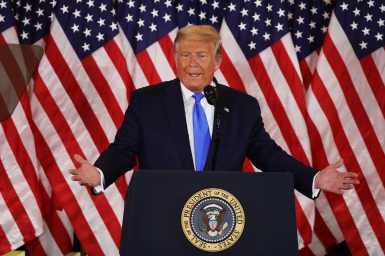 Ông Trump tuyên bố 'sẽ không bao giờ nhận thua' - Ảnh 1.