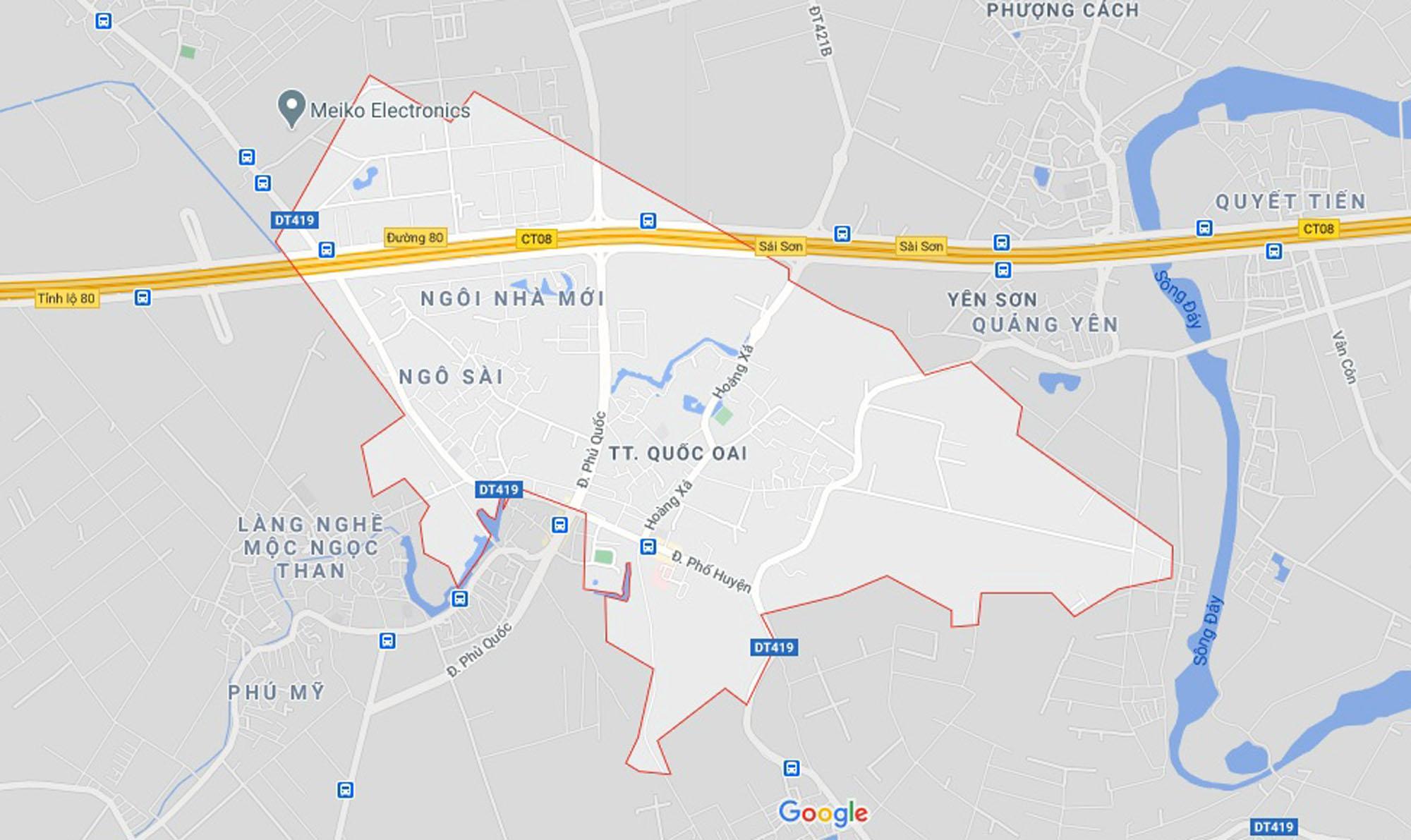 đường sẽ mở theo qui hoạch ở thị trấn Quốc Oai, Quốc Oai, Hà Nội - Ảnh 1.