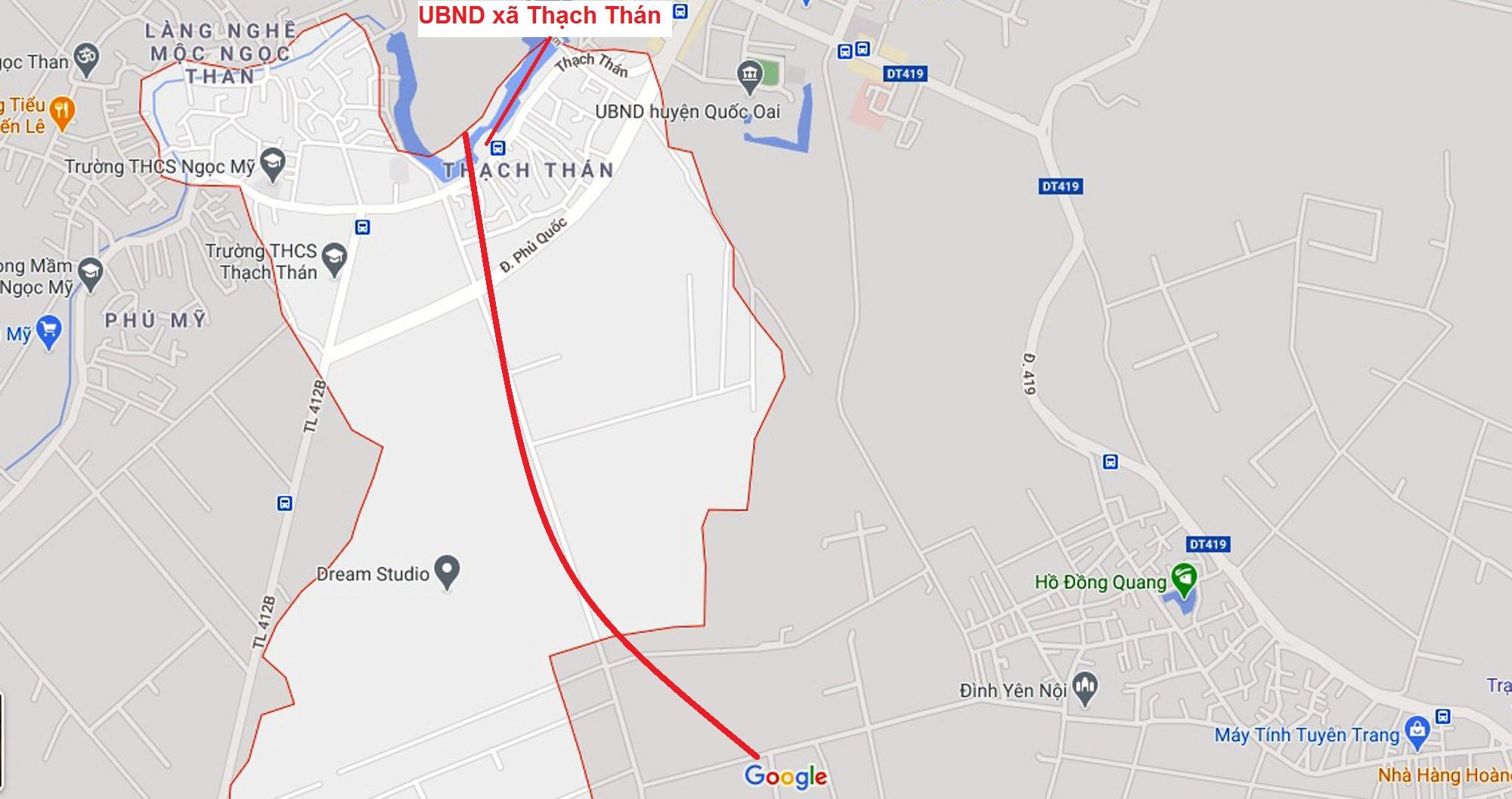đường sẽ mở theo qui hoạch ở xã Thạch Thán, Quốc Oai, Hà Nội - Ảnh 2.