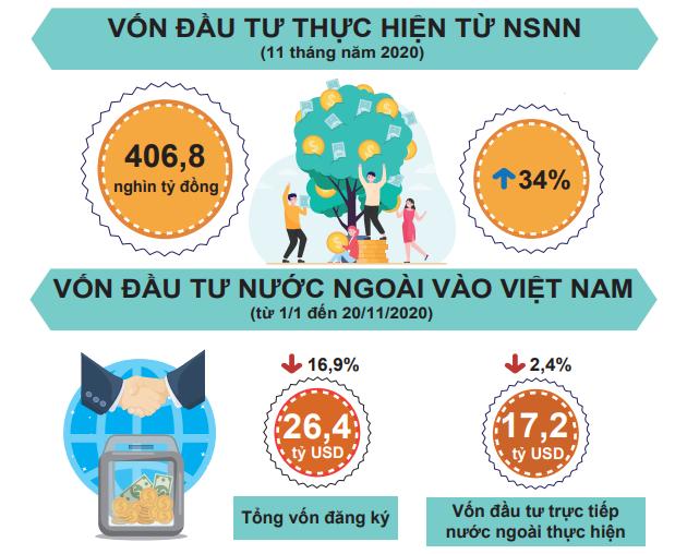 [Infographic] Bức tranh toàn cảnh nền kinh tế Việt Nam 11 tháng đầu năm 2020 - Ảnh 5.