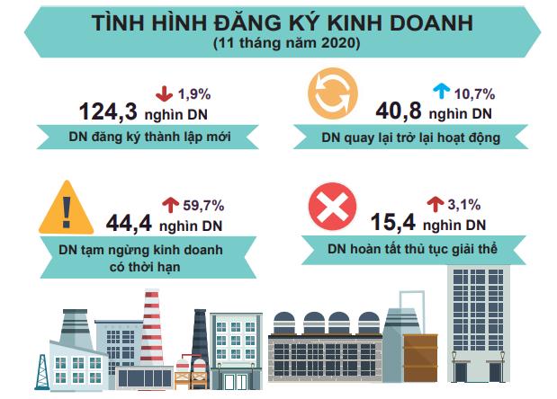 [Infographic] Bức tranh toàn cảnh nền kinh tế Việt Nam 11 tháng đầu năm 2020 - Ảnh 4.