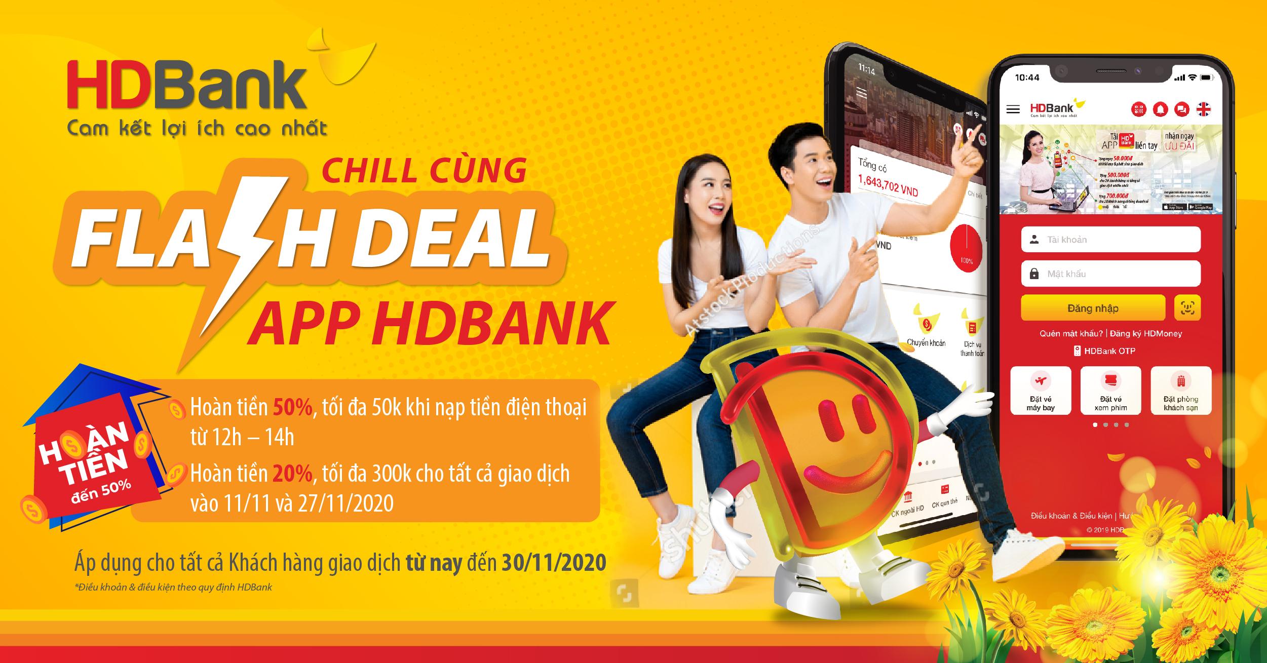 Hoàn đến 300.000 đồng khi giao dịch cùng App HDBank - Ảnh 1.