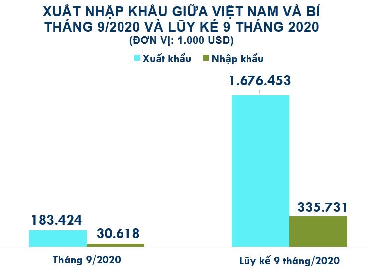 Xuất nhập khẩu Việt Nam và Bỉ tháng 9/2020: Nhập khẩu sản phẩm từ sắt thép tăng vọt - Ảnh 2.