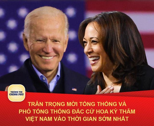 Lãnh đạo Việt Nam chúc mừng Tổng thống đắc cử Joe Biden, mời ông sớm thăm Việt Nam - Ảnh 1.