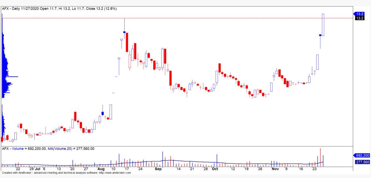Cổ phiếu tâm điểm ngày 1/12: PVD, PLP, AFX - Ảnh 2.